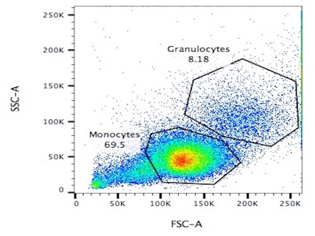 Flow Cytometry scatterplot